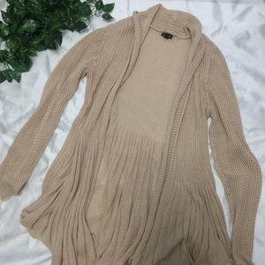 Torrid cream knitted long cardigan blazer